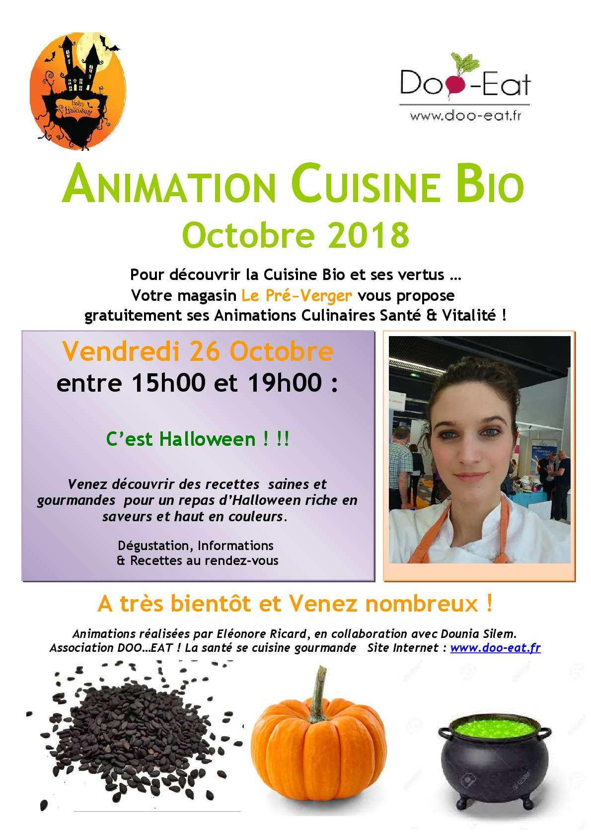 Animation cuisine Halloween de 15h à 19h